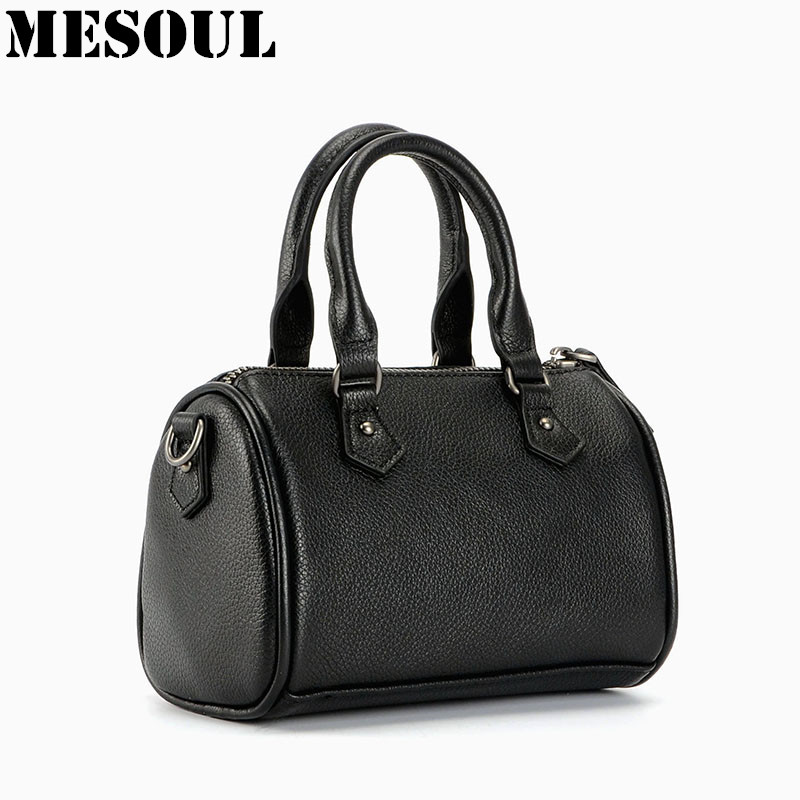 High Quality Genuine Leather Small Bag Women  Shoulder Bags Fashion Mini Boston Handbag Purse famous brand Women Messenger Bags<br>
