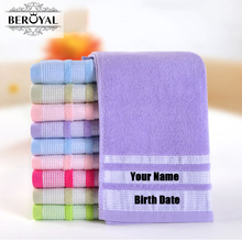 Customized Cotton Hand Towel-- 1pcs/lot 100% Cotton Embroidery Name Personalized Towel Gift for Friends Family 010580
