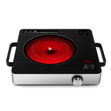 Hot Plates Electric ceramic furnace household hotpot barbecue light wave intelligent induction table tea stove(China)