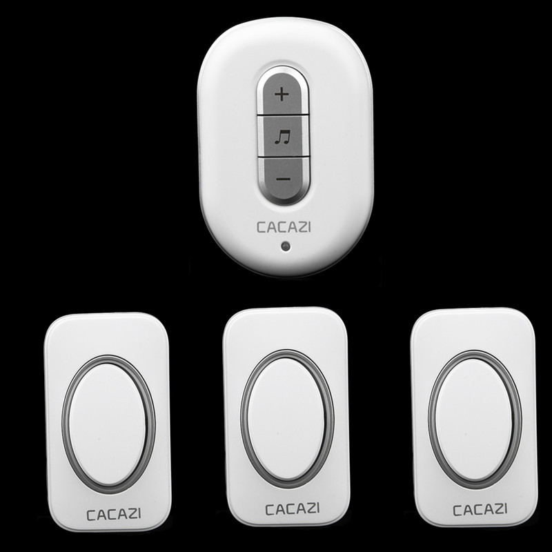 280m remote control digital AC 110/220V plug-in elderly pager Wireless Doorbell Waterproof button 3 transmitters+1 receiver<br><br>Aliexpress