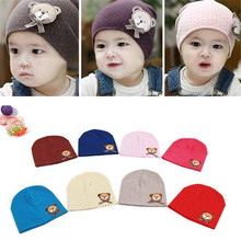 Cute Dot Pattern Baby Hat Winter Knitted Baby Beanies For Child Kids Boys Girls Toddler Cotton Cap Infants Hat