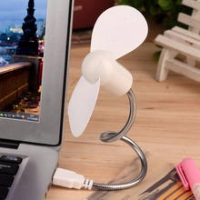 1PC Flexible Mini USB Cooling Fan Summer Portable Powered by USB Fan Cooler For Laptop Desktop PC Computer Notebook 6 Colors
