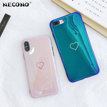 Buy NECONO Pink Smile Love Heart Blue-Ray Glossy Soft Phone Case iphone X 7 Case iphone 8 Plus 6 6s 7Plus Back Cover Coque for $2.44 in AliExpress store