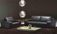 Free Shipping Sofa for living room 2013 American Design Classic 1 2 3 black Leather modern sectional sofa set  L9057