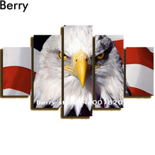 American flag and eagle,diy diamond painting Multi-pictures home decoration ,3D resin square drill full diamond embroidery kits(China)