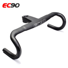 2017 new EC90 full carbon fiber road bike handlebars /bicycle/integrated one-piece handlebar 31.8*400/420/440