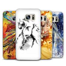 Majestic Mustang Horse art Transparent Phone Case Cover for Samsung Galaxy S3 S4 S5 S6 S7 S8 Edge Plus Mini