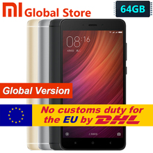 "Global Version Xiaomi Redmi Note 4 4GB 64GB ROM Mobile Phone Snapdragon S625 Octa Core 5.5"" FHD MIUI8 13.0MP Note4 Smartphone"