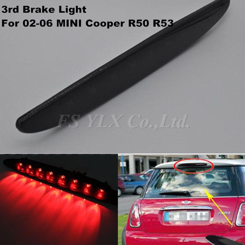Third brake light for bmw mini R53 Smoked Lens Brilliant Red 8LED High Mount Third 3rd Brake Light For 02-06 MINI Cooper R50 R53<br><br>Aliexpress