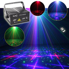 SUNY 300mw Full Color RGB Stage Light Red Green Blue Laser BLUE LED Lighting Projector illumination Disco Green Star Z12G-RGB300