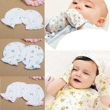 1 Pair Cute Newborn Mittens Cotton Anti Scratching Gloves For 0-6 Month Girl Boy Mittens Full Finger Gloves