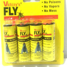 High Quality 4X Fly Sticky Paper Strip Mosquitos Killer Catcher Flying Insect Control Toxic Flying Insect Catcher(China)
