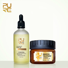 PURC 100% Natural Organic Extract Virgin Coconut Oil and Magical treatment Mask 5 seconds Repair damage Restore Soft Hair 11.11(China)