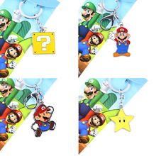Super Mario Star Character Keychain & Necklace Pendant Japanese Anime Collections Kids Gifts Toys #F(China)