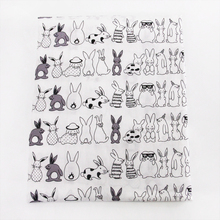 50*145CM rabbit cotton fabric for Tissue Kids Bedding home textile for Sewing Tilda Doll,49525