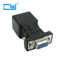 Extender VGA RGB HDB 15pin Female to LAN CAT5 CAT6 RJ45 Network Cable Female Adapter(China)