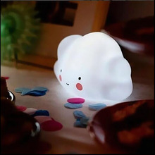 Quadruple Mini Cloud Smile Night Toy Light for Childrens Bedroom Decor Night Lamp Emitting Toy