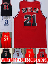 Wholesale #21 Jimmy Butler Jersey Stitched #1 Derrick Rose Jersey #16 Pau Gasol Basketball Jersey Shirt Free Shipping