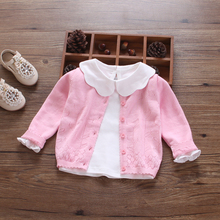 New Baby Sweater Cardigan Sweaters Conditioning Cotton Clothes Thin Spring  Baby Cardigan Sweater