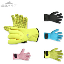 SBART Neoprene Gloves 3MM Swimming Paddles Surf Scuba Diving Gloves To Swim Guantes Buceo Neoprene Blue Black Swimming Gloves(China)