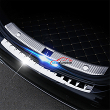 Interior Rear Trunk Bumper Protector Sill Plate Cover Guard Trim Steel For Mercedes E Class Benz W213 E200 E300 E400 2016 2017