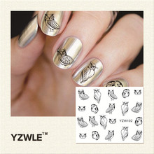 YZWLE 2016 New Hot Sale Water Transfer Nails Art Sticker Manicure Decor Tool Cover Nail Wrap Decal (YZW102)(China)