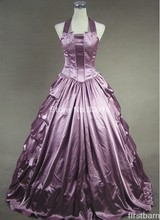 Wholesale Gorgeous Purple Halter Dress Prom Sexy Charming Victorian Gothic Lolita Dress Free Shipping