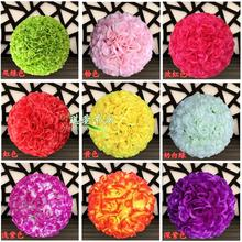"50 CM/20"" New Artificial Silk Flower Rose Kissing Ball Super Large Size Lantern for Christmas Ornaments Party Wedding Decoration"