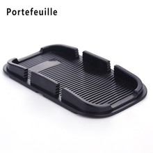 Portefeuille Rubber Anti Skid Sticky Pad Dash Non Slip Auto Car Dashboard Interior Decoratio Mat Holder For Mobile iPhone 7 Plus(China)