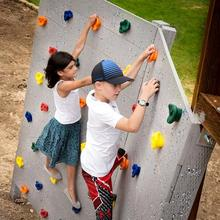 1 Pc Children Outdoor Indoor Playground Plastic Rock Climbing Holds Wall Set Kit Rock Stones Backyard Kids Toys With Screw(China)