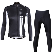 Buy ILPALADINO Bike jersey pants Sets Long Sleeve Women Pro Cycling clothing Suits Ropa Ciclismo Black Girls Winter MTB Wear for $40.04 in AliExpress store
