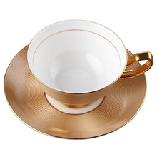 Royal Bone China Coffee Mug Gold Cup and Saucer Ceramic Tea Cup Tray Set Advanced Porcelain Creative  Cup Drinkware For Gift