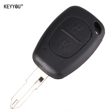 KEYYOU 2 Button Remote Key Fob Shell Case Blank For Vivaro Movano Renault Traffic KANGOO For NISSAN Free shipping(China)