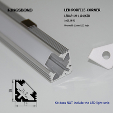 DHL Shipping 20pcs*1m corner V channel Aluminum led profile For LED strip With PC Cover and end caps for led strip light(China)