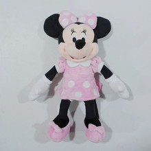 1pcs 45cm=17.7'' Pink Original Minnie Mouse Stuffed animals soft plush Toys,High quality Pelucia Minnie toy for baby