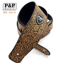 P&P PU leather Guitar Strap for Electric Bass Guitar Snakeskin brand Guitar Belt   Amumu S568