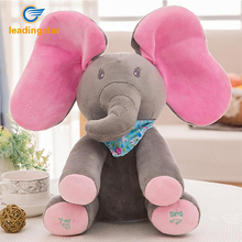 Leadingstar 30cm Plush Animated Elephant Toy Singing Baby Music Toys Ears Flaping Move Interactive Funny Doll Gift