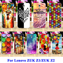 AKABEILA Hard Plastic Mobile Phone Cases Covers For Lenovo ZUK Z1 Z2 Z1221 Shell Covers Paintbox Chocolate Candies Bags Hood