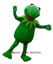2016 New Kermit the Frog mascot costumes 100% real picture adults christmas Halloween Outfit Fancy Dress Suit Free Shipping