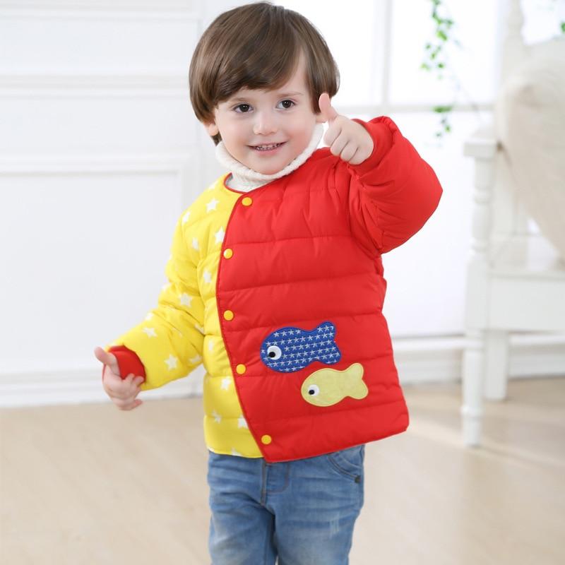 Kids Winter Warm Down Coat Boys and Girls Warm Wear Childern Fashion Winter Clothes New Baby Fish Jacket Liner Short V-0331Одежда и ак�е��уары<br><br><br>Aliexpress