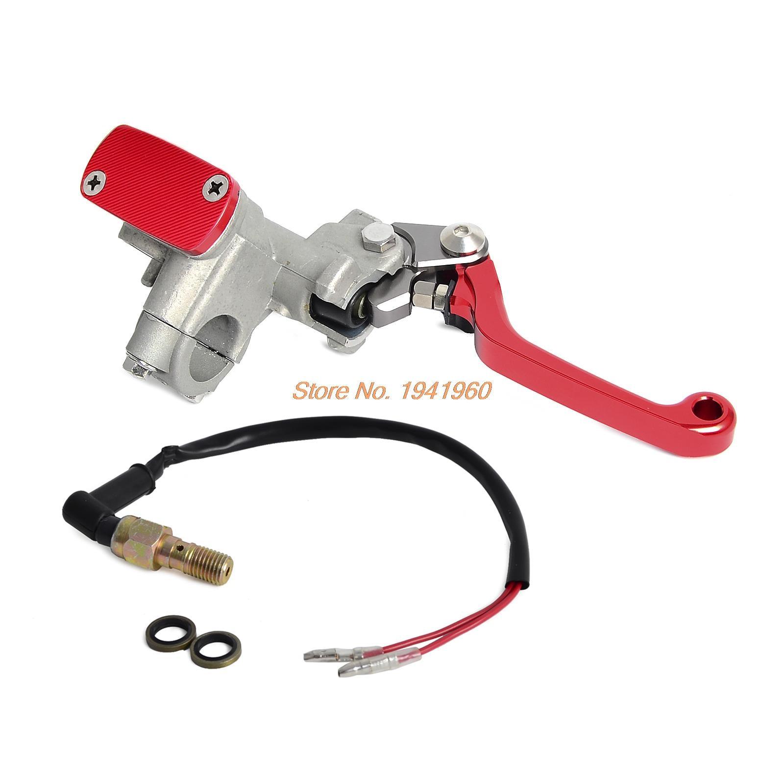 Adjustable Motorcycle Brake Levers Master Cylinder Reservoir Cap Set For Honda CRF450R CRF450X  XR400R XR650R  <br>
