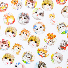 40 Pcs/Set Kawaii Cute Cat Sticker DIY Scrapbooking Diary Decorations Sticky Notes Memo Pad Deco Stickers School stationery