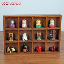 Multifunctional Retro Wooden Storage Box Creative Desktop Wood Box Organizer Jewelry Toys Potted Plants Container(China)