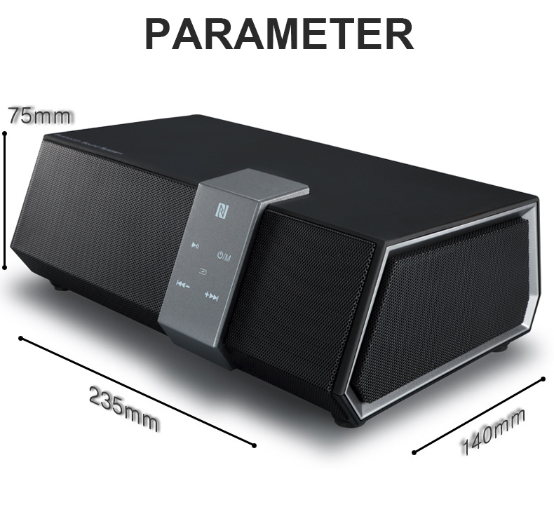Wireless Bluetooth 20W Loudspeakers subwoofer Bass Speaker HIFI Sound Box Touch Control 3D Sound Column For The Computer Phone