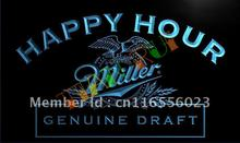 LA613- Miller Beer Happy Hour Bar Pub LED Neon Light Sign