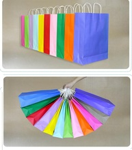 Size 32*11*40cm new 12 styles Different colors without handle paper bag food packaging kraft Party gift paper bag 60pcs