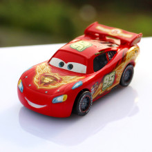 "Disney Pixar Cars No.95 ""Piston Cup"" Red Flame Diecast Alloy Metal Model Car Cartoon Movie Macqueen Off Road Racers Car Toy"