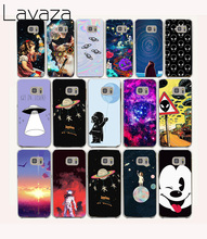Lavaza 59O astronaut Space Aliens Hard coque Case for Samsung Galaxy S6 cover J5 2015 2016 J510 J520 edge plus