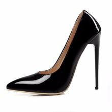 Plus Size 34-46 2017 New Fashion Brand Designers High Heels Women Pumps Thin Heel Black Red White Nude Sexy Wedding shoes Woman