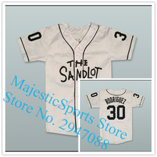 Benny 'The Jet' Rodriguez 30 Baseball Jersey The Sandlot Gray White Jersey(China)